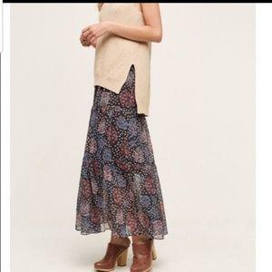 Anthropologie Maeve Moon Lake Maxi Skirt Sz Medium